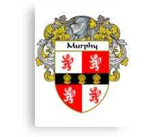 Murphy Coat of Arms/Family Crest Canvas Print