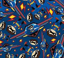 Cute Superhero Pattern by MurphyCreative