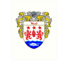 Neal Coat of Arms/Family Crest Art Print