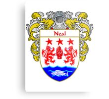 Neal Coat of Arms/Family Crest Metal Print
