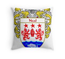 Neal Coat of Arms/Family Crest Throw Pillow