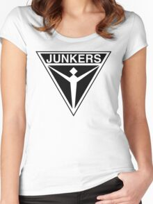 Junkers Aircraft logo Women's Fitted Scoop T-Shirt