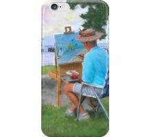 Painter on the Beach iPhone Case/Skin