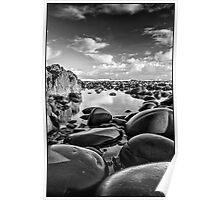 Pebbles at Westward Ho  Poster