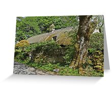 Dartmoor thatched cottage Greeting Card