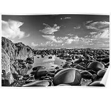 Pebbles and Reflections - Westward Ho. Poster