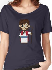 Cute Jesus Christ Pattern Women's Relaxed Fit T-Shirt