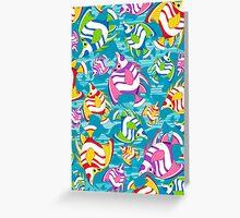 Tropical Fish Pattern Greeting Card