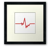 pulse heartbeat cardio Framed Print