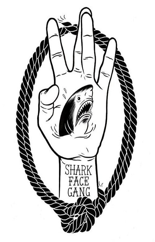 Quot Shark Face Gang Logo Quot Iphone Cases Amp Skins By