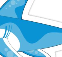 Cute Shark Pattern Sticker