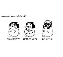 Famous Lemmings Photographic Print