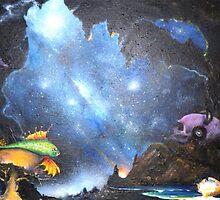 Mushrooms Devoured in a Cosmic Dream by JamesLee