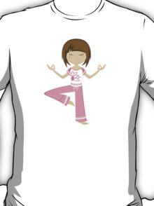 Yoga Girl Pattern T-Shirt