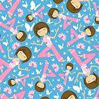 Yoga Girl Pattern by MurphyCreative
