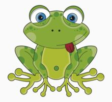 Cute Frog Pattern Kids Clothes