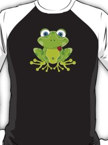 Cute Frog Pattern T-Shirt