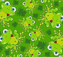 Cute Frog Pattern by MurphyCreative