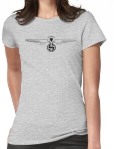 Stearman Aircraft Logo (Black) Womens Fitted T-Shirt