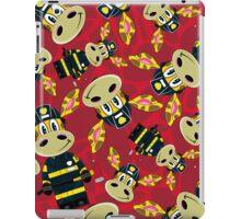 Cute Zebra Fireman Pattern iPad Case/Skin