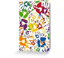 Kids Handprint Pattern Greeting Card