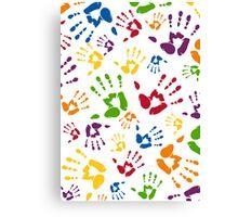 Kids Handprint Pattern Canvas Print
