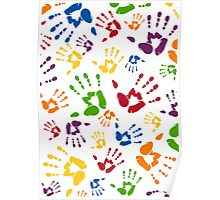 Kids Handprint Pattern Poster