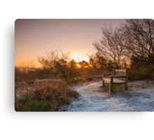 Frosty Sunrise over the Lickey Hills Canvas Print