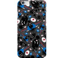 Superhero Silhouette Pattern iPhone Case/Skin