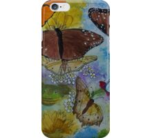 Butterflies dance with frog iPhone Case/Skin