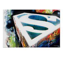 Superman Graffiti by Mikieion