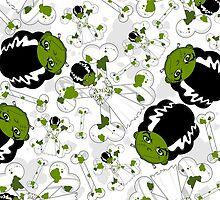Bride of Frankenstein Pattern by MurphyCreative