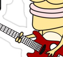 Musical Meerkat Character (Guitar) Sticker