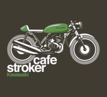 Twin Stroke Cafe Racer Kawasaki by velocitygallery