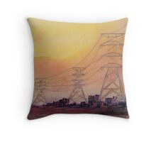 Shanty Town Energy Throw Pillow