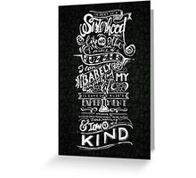 One of a kind (white) Greeting Card