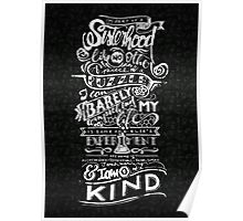 One of a kind (white) Poster