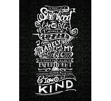 One of a kind (black) Photographic Print