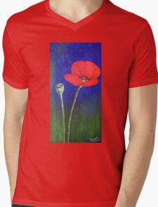 Red Tulip Mens V-Neck T-Shirt