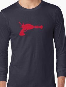 Retro Raygun Pattern Long Sleeve T-Shirt