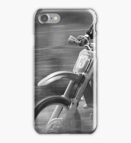Dirt bike flat out iPhone Case/Skin