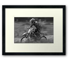 Dirt bike flat out Framed Print