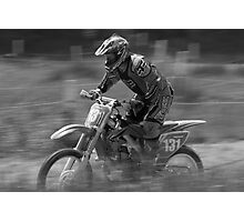 Dirt bike flat out Photographic Print
