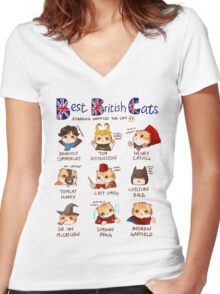 Best British Cats (BBC) Women's Fitted V-Neck T-Shirt