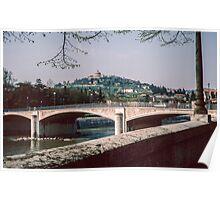 Bridge over R Adige Verona Italy 19840419 0074m  Poster