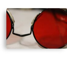 Round Red Glasses. Canvas Print
