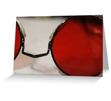 Round Red Glasses. Greeting Card