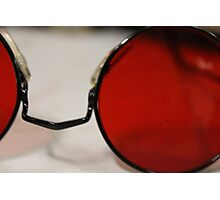 Round Red Glasses. Photographic Print