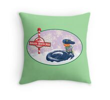 Jurassic North Pole Throw Pillow