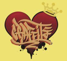 Graffiti Heart Kids Tee